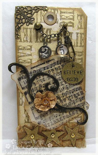 gift tags Tim Holtz style  t