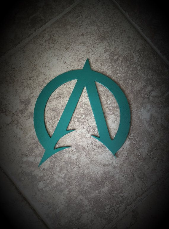 Superhero, Aquaman Symbol Metal Wall Art Decor for kids bedroom, nursery, man cave, garage, gifts for him