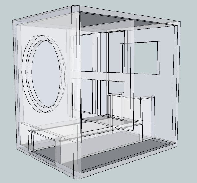 subwoofer box design for 15 inch - Google Search                                                                                                                                                                                 Más
