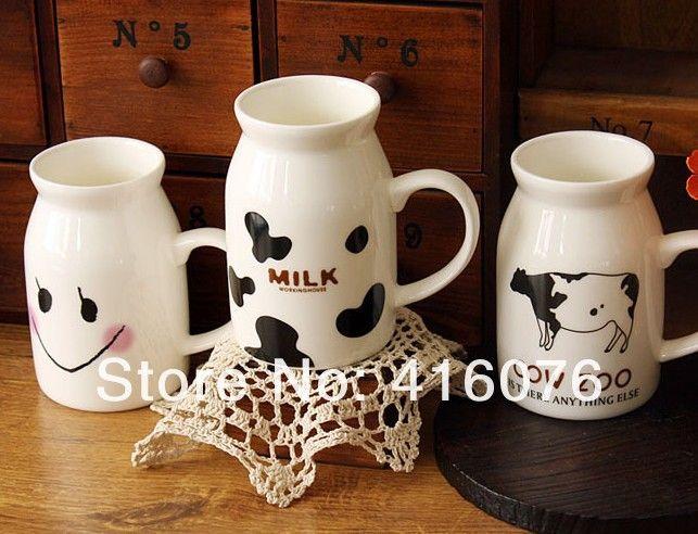 New Design Zakka Ceramic Breakfast Milk Mug Milk Cup Driking Coffee Cup mixed Design Hot Selling! C2009-in Mugs from Home & Garden on Aliexpress.com