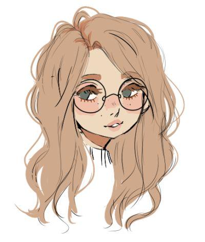 Cute glasses fille dessins lunettes kawaii