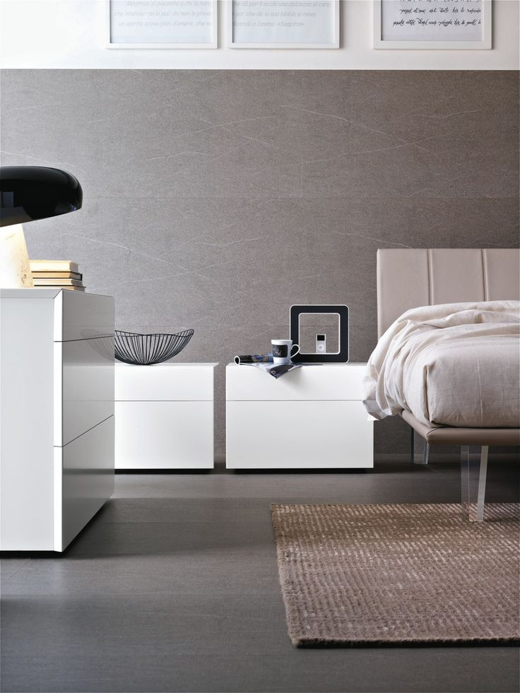 Modern White Bedside cabinets | Robinsons Beds