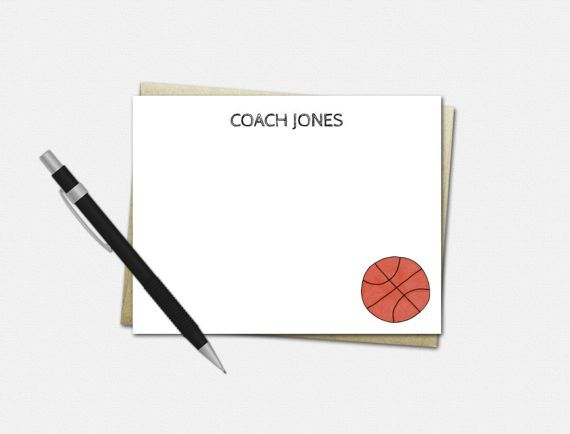 Basketball Note Cards  Personalized Basketball by VLHamlinDesign