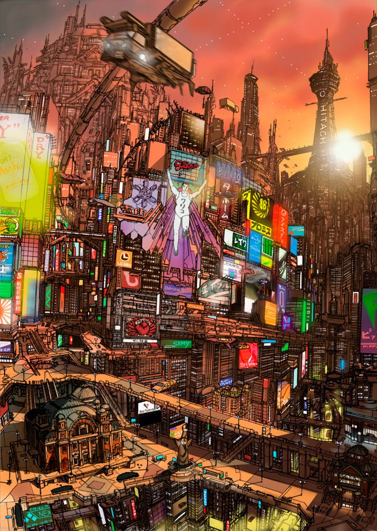 The Art Of Animation, 緑虫改 cityscape Concept Art Bonetech3D SteamPunk Fashion Sci-Fi
