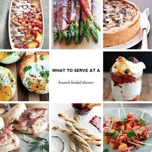 tips to creating a menu for the baby shower - What to serve at a brunch bridal shower - sample menus with recipes on Showerbelle.