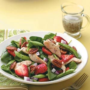 Poppy Seed Chicken Salad: Chicken Poppies, Chicken Salad, Salad Recipes, Strawberries Spinach Salad, Salad Ideas, Yummy Salad, Seeds Salad, Healthy Recipes, Poppies Seeds