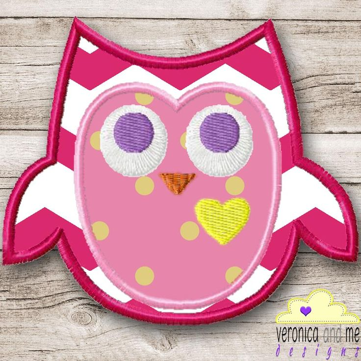 This Owl Appliqué Design is an OWLsome addition to any item of clothing or fabric!  Maybe you have a text design that needs a little something extra, wisen it up with this little bird and it's heart of gold!