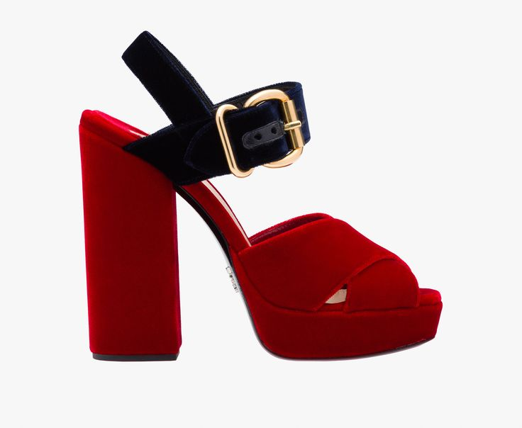 Prada Woman - Sandal - Cherry red + blue - 1XP873_866_F0TAA_F_130