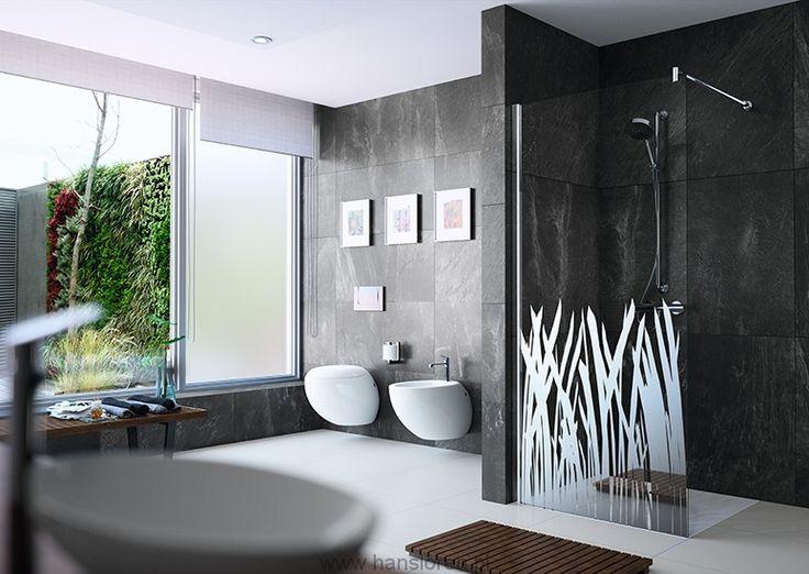 Design elegance Huppe 4-kąt Ścianka boczna wolnostojąca 100 stabilizator poprzeczny H:2000 - 8E1107087322  http://www.hansloren.pl/Kabiny-prysznicowe