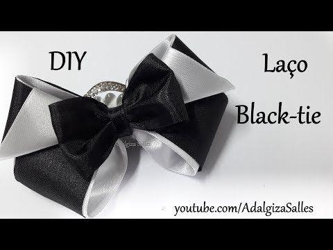 DIY- Laço Black-Tie por Adalgiza Salles - YouTube