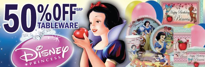 snow white birthday | Snow White Party Supplies, FREE shipping offer, 50% off tableware, and ...