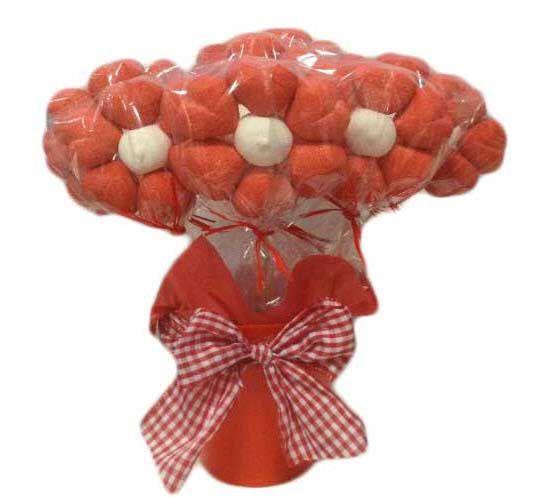 Macetas de flores de chuches rojas maceta de flores - Macetas de chuches ...