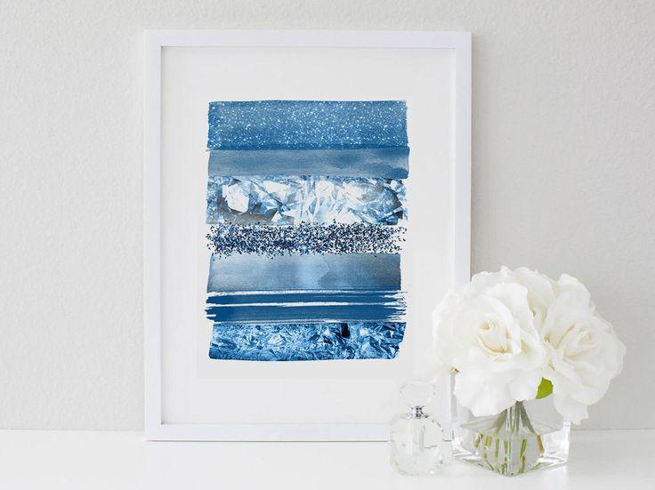 Blue stripe Wall Art,Lapis stripes print,Blue Digital Art,Blue Decor Print,Line Art Wall,Minimalist Wall Art,Modern decor print by MakesMyDayHappy on Etsy