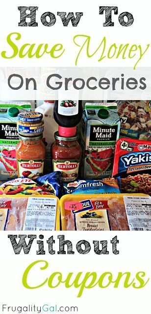 How to Save Money on Groceries Without Coupons. Great tips! best money saving tips #SaveMoney #Money
