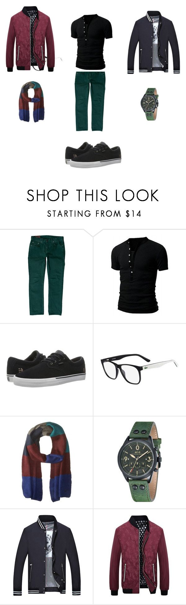 """Men""s Nice set"" by tada-selo123 ❤ liked on Polyvore featuring J Brand, Etnies, Lacoste, French Connection, men's fashion and menswear"