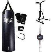Everlast 3 Station Heavy Bag Stand with MMA Kit, Speedbag and Striking Bag Value Bundle