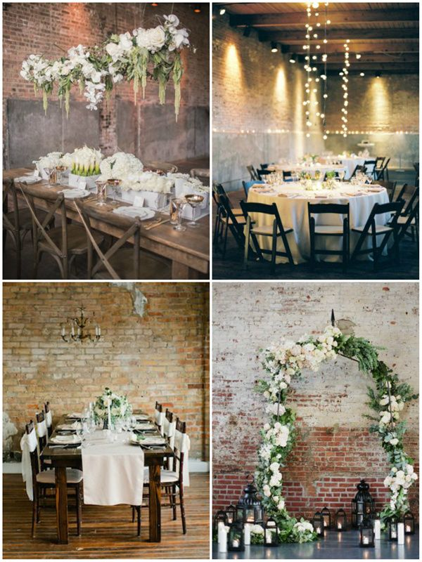 loft style wedding ideas you'll totally love