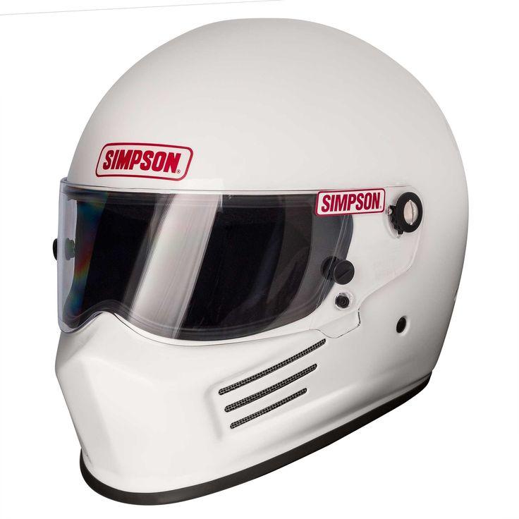 SIMPSON BANDIT HELMET SNELL SA2015/FIA 8859 GLOSS WHITE