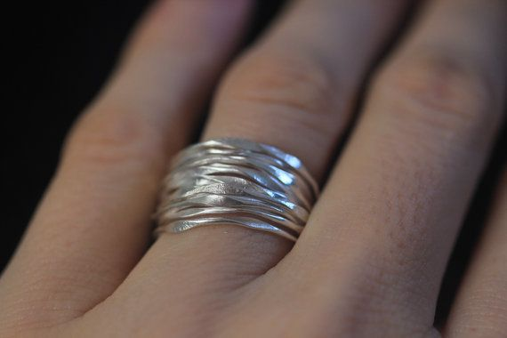 Handgemaakte gehamerd zilver draad zilveren door Storiesofsilversilk