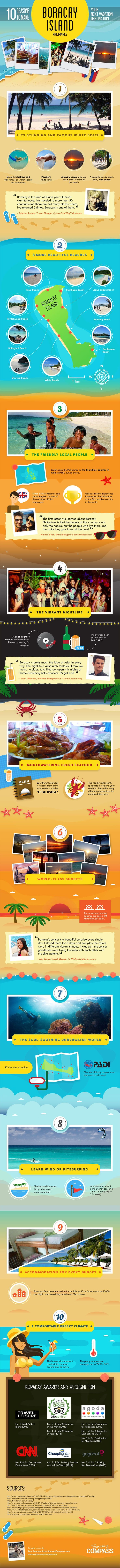 10 Reasons To Make Boracay Island Your Next Vacation Destination #Infographic #Philippine #Travel