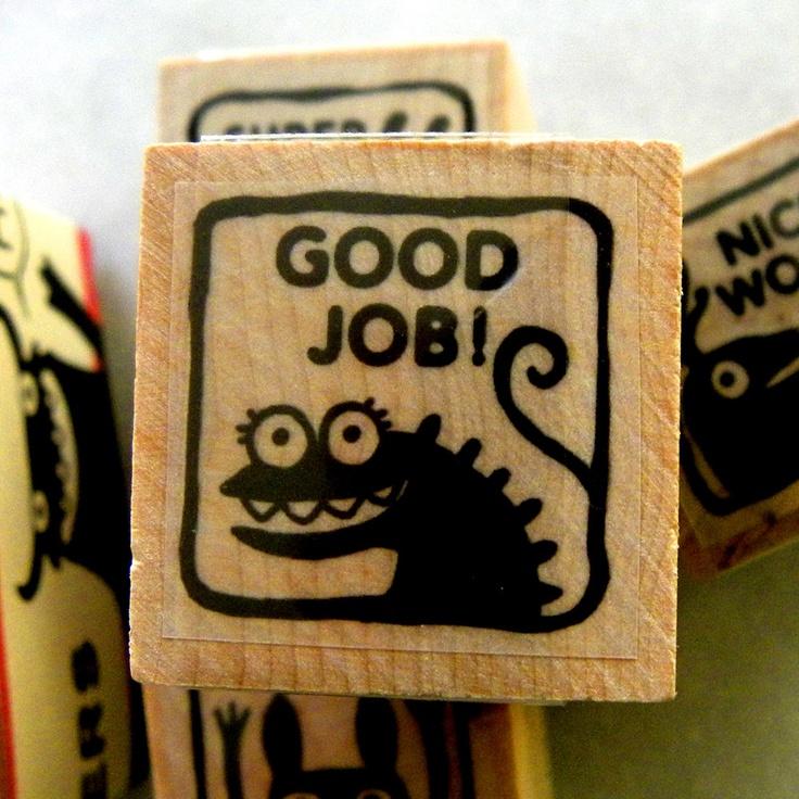 Good Job - Monster rubber stamp for teachers. $4.25, via ...