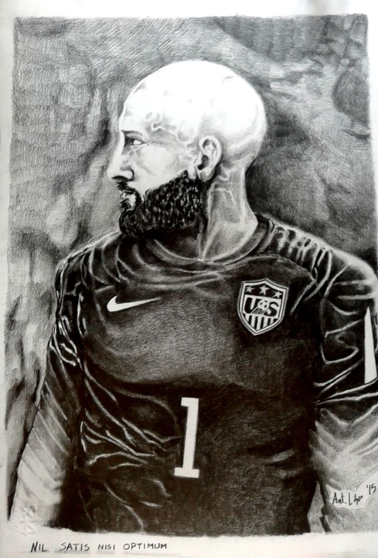 Drawing Pencil Tim Howard USA Goalkeeper
