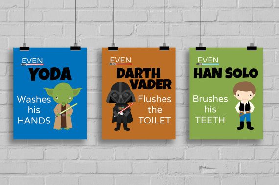 Welcome to Simply Love Creations!    Star Wars Bathroom Prints    These fun and attractive signs are a great way to remind your little one