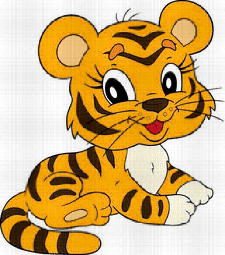 Месяцев, картинки тигров для детей