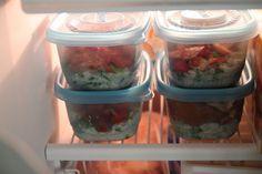 Homemade Frozen Burrito Bowls: Bran Appetit