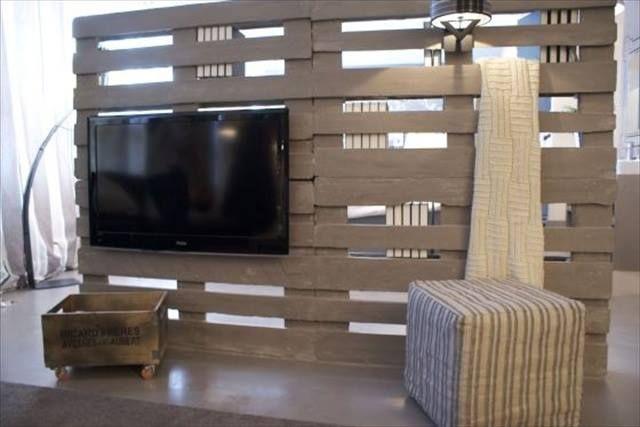 meuble télé: Diy Room Divider, Diy Pallet Room Divider, De Pallets ...