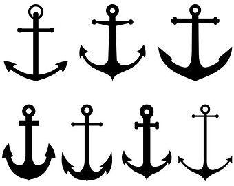 Ancre de bateau Clip Art : « Ancre marine » clipart nautique avec des images numériques d'ancre