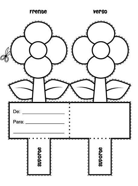 Molde de Cartão-Flor para Lembrancinhas - Dicas pra Mamãe