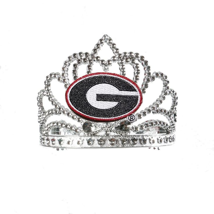 """Divine Creations DVC-TIA9-GEO Georgia Bulldogs Ncaa Crown Tiara. 3 1/2"""" height. Plastic Tiara featuring Large Team Logo. Officially licensed product made in USA Ages 3 and up."""
