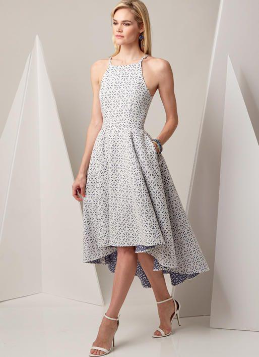 V9252 | Vogue Patterns/Misses' Princess Seam Hi-Lo Dress w/pockets - Matches Hi-Lo Red Party dress to a T!!!