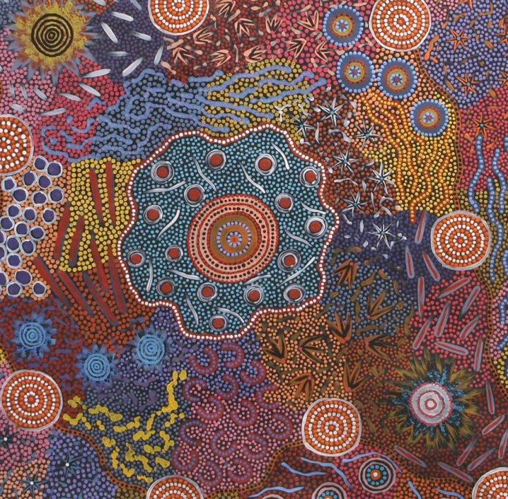 21 best 1617 gd5 onderzoek stijlen aboriginal images on these dot paintings are inspired by the indigenous culture in australia and share symbols that reflect their values such toneelgroepblik Image collections
