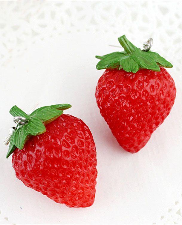 Boucles d'oreilles fraises EUR€4.80