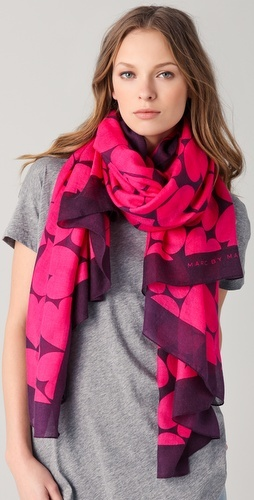 Marc by Marc Jacobs heart print scarf.