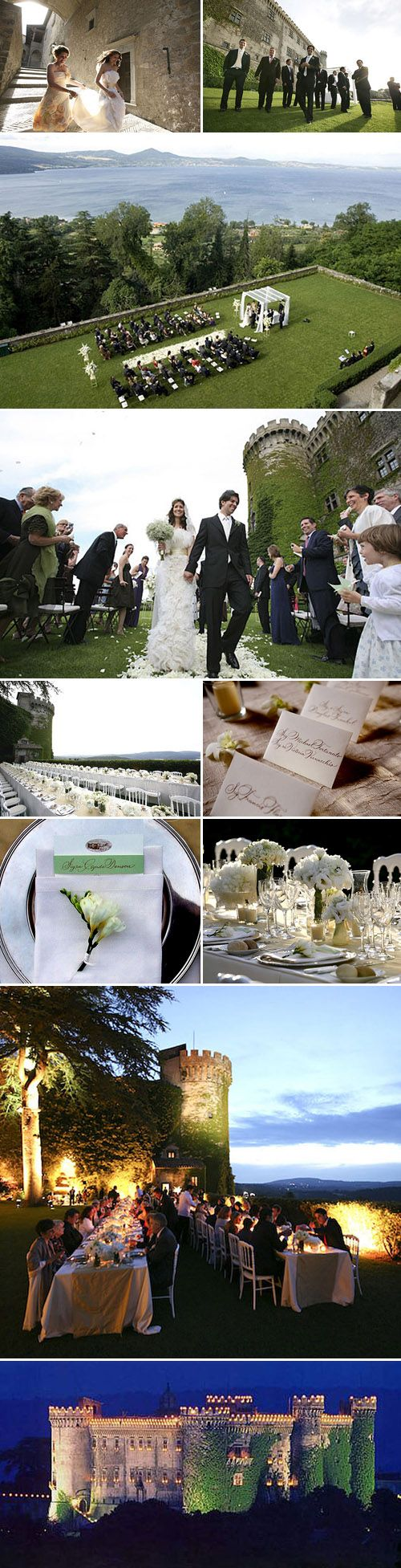 Italian wedding--just gorgeous!!! Probably not in the cards for me...but I'll take a honeymoon there!!! ;)
