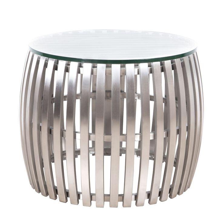 die besten 25 couchtisch glas edelstahl ideen auf. Black Bedroom Furniture Sets. Home Design Ideas