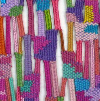 contemporary weaving, frame loom, brooklyn textile- Alicia Scardetta