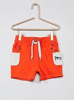 38a98e3e83d Niño 0-36 meses - Pantalón corto de felpa estampado - Kiabi