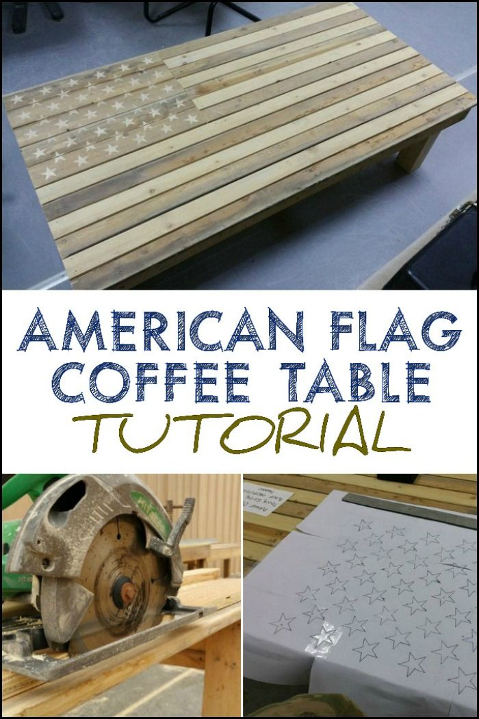 Now this is an impressive DIY furniture expressing patriotism! Do you want to build your own American flag pallet coffee table?