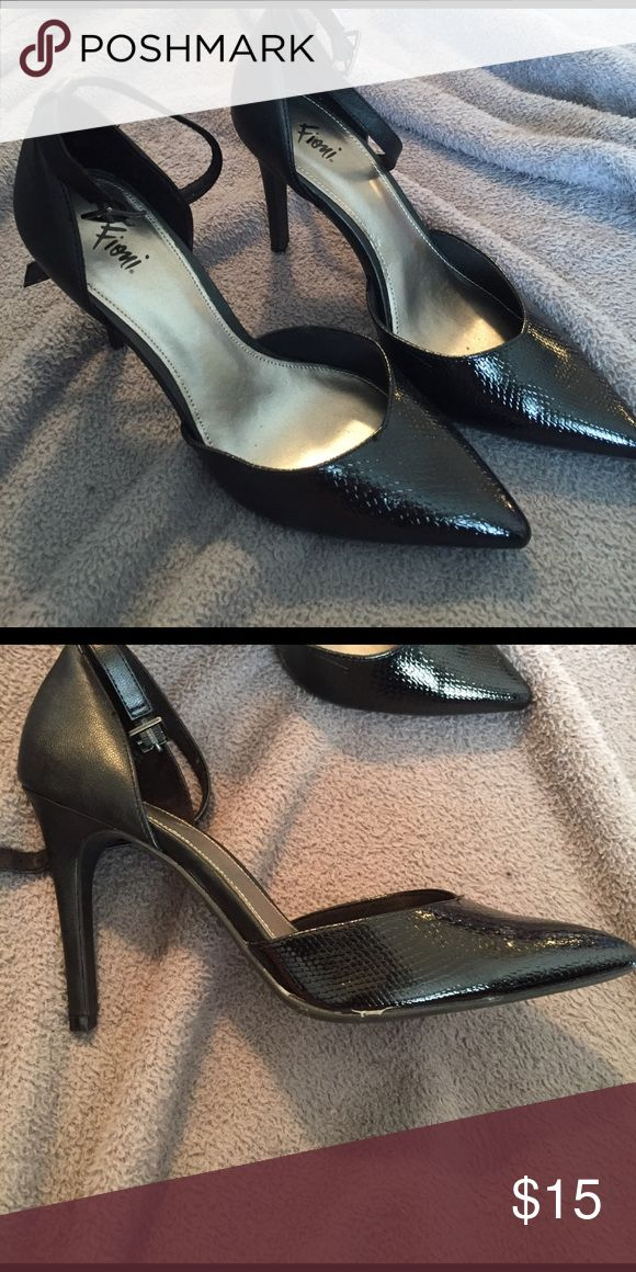 Black 3 inch heels with strap ❤ 7 1/2 shoes. Brand new ❤ Shoes Heels