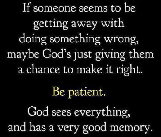 Maybe that what God is doing for you.... I hope you realize your mistake...
