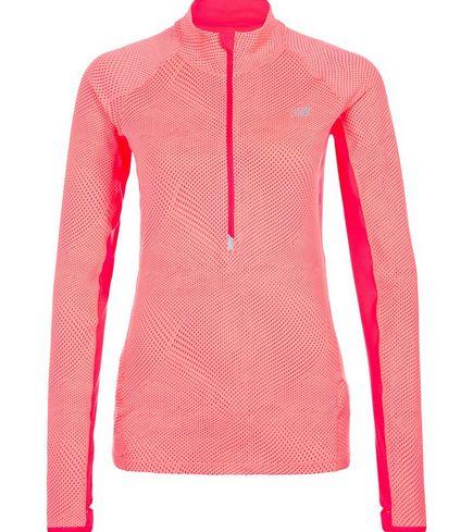 Sportbekleidung Große Größen Damen, New Balance Impact Half Zip Graphic Laufshirt Damen In Pink Orange, Seine Motive Sind Sehr Attraktiv, Schöne Farbe
