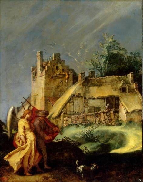 Блумарт, Абрахам - Пейзаж с Товием и ангелом