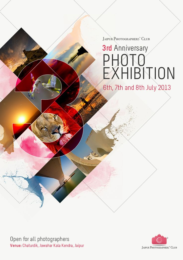 jaipur photographers club anniversary photo exhibition advertisement poster - Poster Design Ideas