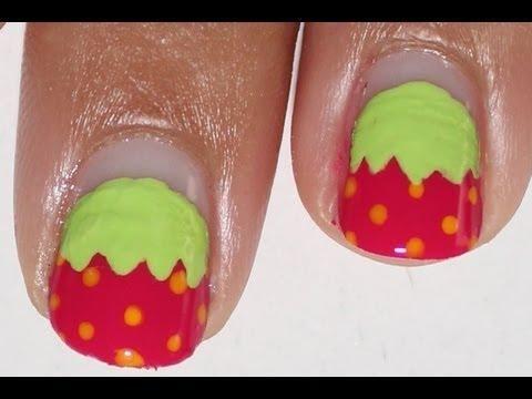 DIY Strawberry Nail Art DIY Nails Art