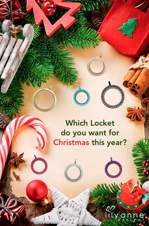 Which Locket do you want for Christmas this year? We love them all!! #LilyAnneDesigns #PersonalisedLockets #CapturingMoments #FreeToBeMe #Christmas