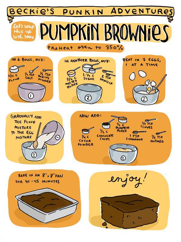 Let's Make Pumpkin Brownies! sarah becan